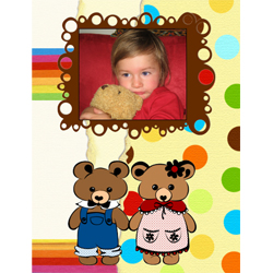 "Scrapbook template ""Toy Store #19"" in ""Baby Scrapbooking"""