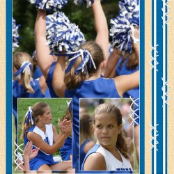 "Scrapbook template ""Cheerleaders #19"" in ""Cheerleaders"""