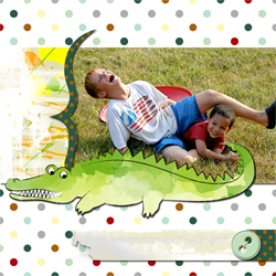 "Scrapbook template ""Funny zoo #02"" in ""Family"""