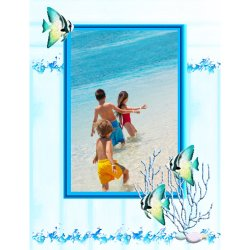 "Scrapbook template ""Sea life #13"" in ""Sea life"""