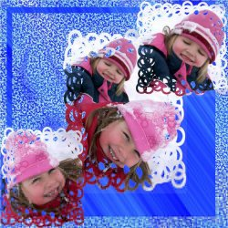 "Scrapbook template ""Winter Vacation #3"" in ""Winter Vacation"""