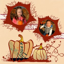 "Scrapbook template ""Thanksgiving #16"" in ""Thanksgiving"""