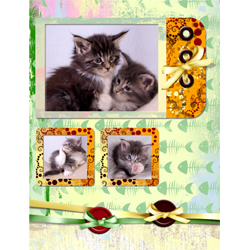 "Scrapbook template ""Cats Day #11"" in ""Pets"""
