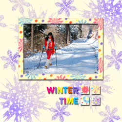 "Scrapbook template ""Winter time #14"" in ""Winter Vacation"""