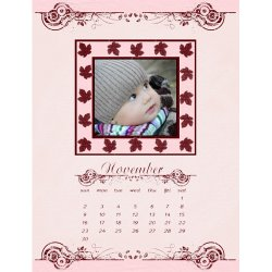 "Scrapbook template ""November #19"" in ""Calendars 2008"""