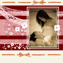 "Scrapbook template ""Love #04"" in ""Love Scrapbooking"""