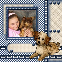"Scrapbook template ""Dogs #03"" in ""Pets"""