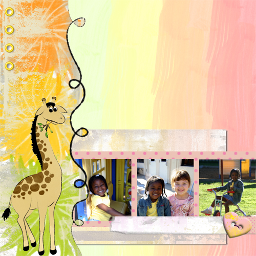"Scrapbook template ""Funny zoo #18"" in ""Family"""