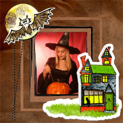 "Scrapbook template ""Painted Halloween #10"" in ""Halloween"""