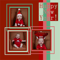 "Scrapbook template ""New Year 2009 #18"" in ""New Year"""