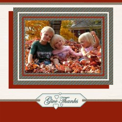 "Scrapbook template ""Thanksgiving #14"" in ""Thanksgiving"""