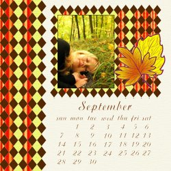 "Scrapbook template ""September #20"" in ""Calendars 2008"""