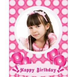 "Scrapbook template ""Birthday #08"" in ""Birthday Scrapbooking"""