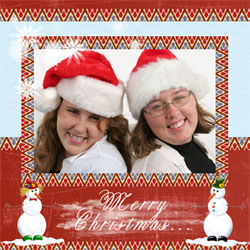 "Scrapbook template ""Christmas 2009 #17"" in ""Christmas Scrapbooking"""
