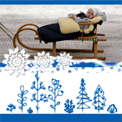 "Scrapbook template ""Winter time #08"" in ""Winter Vacation"""
