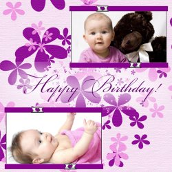 "Scrapbook template ""Birthday #02"" in ""Birthday Scrapbooking"""
