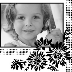 "Scrapbook template ""Black&White #18"" in ""Black&White"""