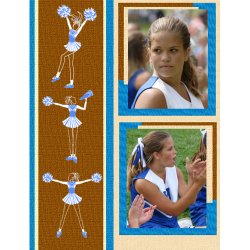 "Scrapbook template ""Cheerleaders #02"" in ""Cheerleaders"""