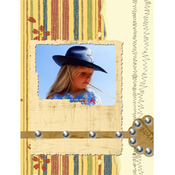 "Scrapbook template ""Wild West #13"" in ""Travel"""