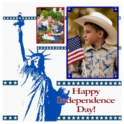 "Scrapbook template ""Independence Day #2"" in ""Independence"""