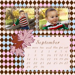 "Scrapbook template ""September #16"" in ""Calendars 2008"""