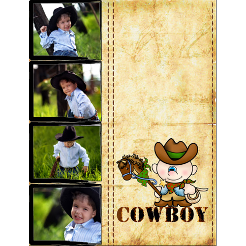 "Scrapbook template ""Wild West #19"" in ""Travel"""