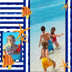 "Scrapbook template ""Sea life #08"" in ""Sea life"""