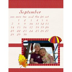 "Scrapbook template ""September #01"" in ""Calendars 2008"""