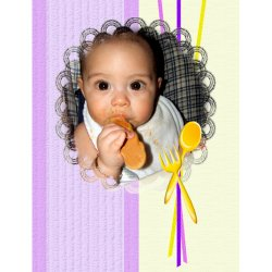"Scrapbook template ""Baby firsts # 17"" in ""Firsts"""