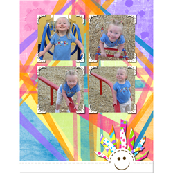 "Scrapbook template ""Playground #05"" in ""Family"""