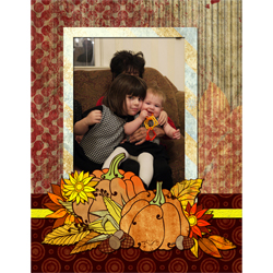 "Scrapbook template ""Thanksgiving 2011 #03"" in ""Thanksgiving"""