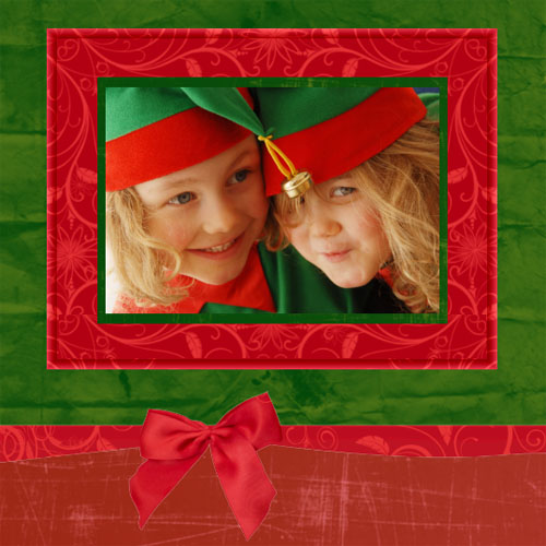 "Scrapbook template ""Christmas 2009 #15"" in ""Christmas Scrapbooking"""