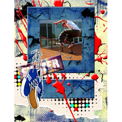 "Scrapbook template ""Skateboard #17"" in ""Sport"""