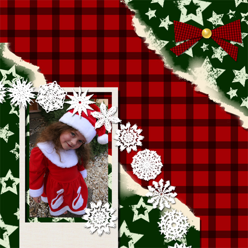 "Scrapbook template ""Christmas 09 #04"" in ""Christmas Scrapbooking"""