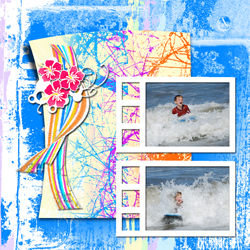 "Scrapbook template ""Surfing #14"" in ""Summer Vacation"""