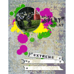 "Scrapbook template ""Paintball #03"" in ""Sport"""