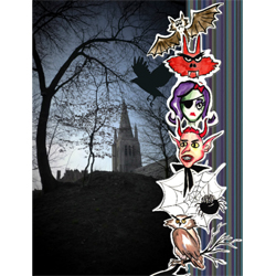 "Scrapbook template ""Painted Halloween #11"" in ""Halloween"""