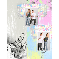 "Scrapbook template ""Teenagers #19"" in ""Teenagers"""