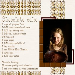 "Scrapbook template ""Food #10"" in ""Food"""