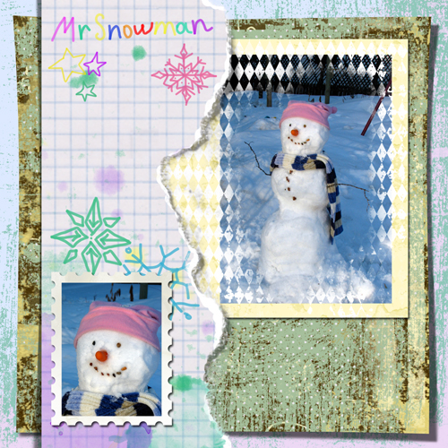 "Scrapbook template ""Winter 2011 #02"" in ""Seasonal"""