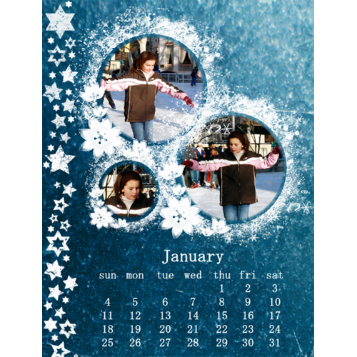 "Scrapbook template ""January #09"" in ""Calendars 2009"""