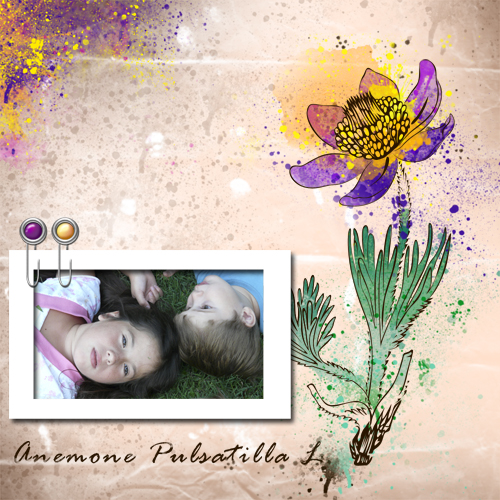 "Scrapbook template ""Spring flowers #04"" in ""Spring"""
