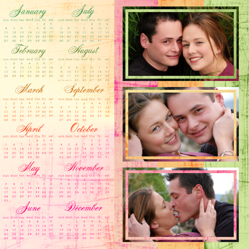 "Scrapbook template ""Calendar2009 #08"" in ""Calendars 2009"""