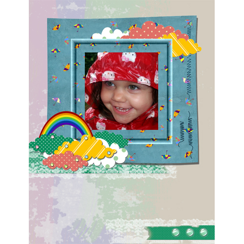 "Scrapbook template ""Rainy Day #09"" in ""Seasonal"""