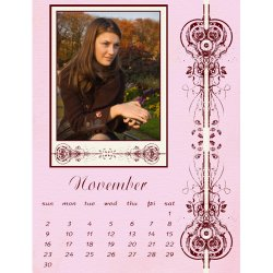 "Scrapbook template ""November #09"" in ""Calendars 2008"""