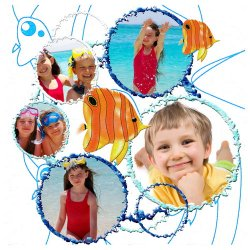 "Scrapbook template ""Tropical Fishes #8"" in ""Summer Vacation"""