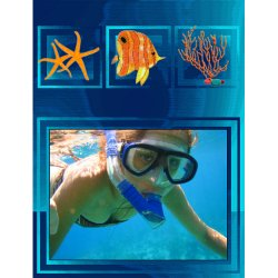 "Scrapbook template ""Water Activities #13"" in ""Hobbies"""