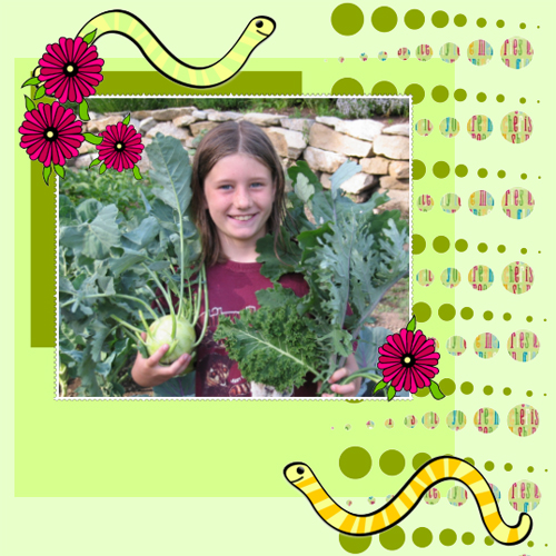 "Scrapbook template ""Garden #12"" in ""Nature"""