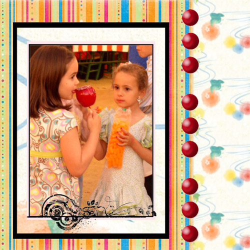 "Scrapbook template ""Friends #27"" in ""Friends Scrapbooking"""