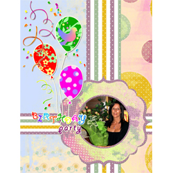 "Scrapbook template ""Birthday party #07"" in ""Birthday Scrapbooking"""